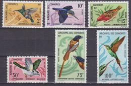 COMOROS 1967, Mi# 79-84, CV €50, Birds, MNH - Comores (1975-...)