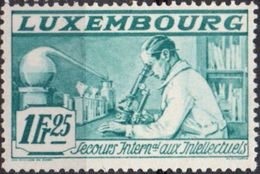 Luxemburg 1935, Intellectuels 1 Fr 25 Chemical Research 2006.1916 Microscope, Retort - Jobs