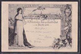 B51 /   Fürth Franken Sängerbundesfest Sängerfest 1898 - Events