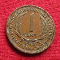 East Caribbean States 1 Cent 1962 KM# 2 *V2 British Caribbean Territories Caraibas Caraibes Orientales Eastern - Caribe Oriental (Estados Del)
