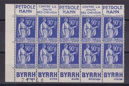 D162/  N° 368 BLOC DE 10 AVEC BANDE PUB  NEUF** - Collections