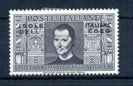 1932 EGEO N.45 * Pro Società Dante Alighieri 15 Centesimi - Ägäis