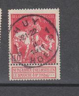 COB 91 Oblitération Centrale HUY - HOEI 1D - 1910-1911 Caritas