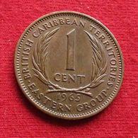 East Caribbean States 1 Cent 1965 KM# 2 *V2 British Caribbean Territories Caraibas Caraibes Orientales Eastern - Caribe Oriental (Estados Del)