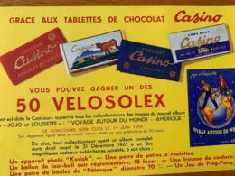 1 BUVARD VELOSOLEX / CASINO - Cacao
