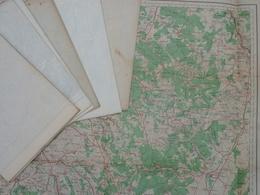 Carte De France Au 1/200 000, (style Type 1912) Feuille 48 Annecy  COULEUR - Cartes Topographiques