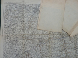 Carte De France Et Des Frontières Au 1/200 000, Type 1912 , Coupure10 Mézières  COULEUR - Cartes Topographiques