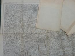 Carte De France Et Des Frontières Au 1/200 000, (style Type 1912) Feuille 11 LONGWY  Marron Noir Et Blanc - Cartes Topographiques