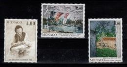 Monaco - YV 1693 à 1695 N** Complete Peintres & Tableaux Cote 13,10 Euros - Monaco