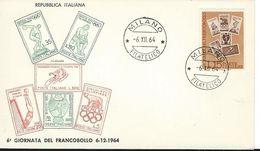 1964 GIORNATA DEL FRANCOBOLLO FDC - F.D.C.