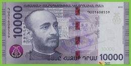 Voyo ARMENIA 10000 Dram 2018 PNEW B322a ԴԱ UNC Soghomon Soghomonian Music - Arménie
