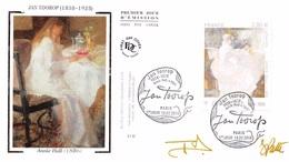 FRANCE. FDC. N°206972. 19/02/2016. Cachet Paris. JAN TOOROP. Signé Patte Et Besset - 2010-....