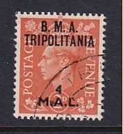 Tripolitania: 1948   KGVI 'B.M.A. Tripolitania' OVPT   SG T4    4l On 2d    Used - Tripolitaine