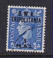 Tripolitania: 1948   KGVI 'B.M.A. Tripolitania' OVPT   SG T5    5l On 2½d    Used - Tripolitaine