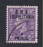 Tripolitania: 1948   KGVI 'B.M.A. Tripolitania' OVPT   SG T6    6l On 3d    Used - Tripolitaine