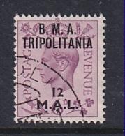 Tripolitania: 1948   KGVI 'B.M.A. Tripolitania' OVPT   SG T8    12l On 6d    Used - Tripolitaine