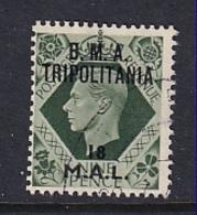 Tripolitania: 1948   KGVI 'B.M.A. Tripolitania' OVPT   SG T9    18l On 9d    Used - Tripolitaine