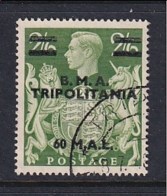 Tripolitania: 1948   KGVI 'B.M.A. Tripolitania' OVPT   SG T11    60l On 2/6d    Used - Tripolitaine