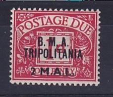 Tripolitania: 1948   Postage Due 'B. M. A. Tripolitania' OVPT   SG TD2    2l On 1d    MH - Tripolitaine