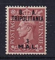 Tripolitania: 1950   KGVI 'B. A. Tripolitania' OVPT   SG T16    3l On 1½d    MH - Tripolitaine