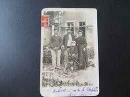 SARTHE,le MANS,carte Photo Située ,famille,velo Et Chien - Le Mans