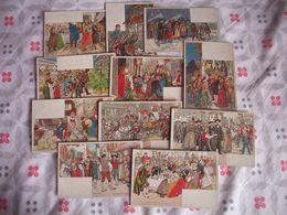 LOT DE 24 CARTES D'ILLustrateur - KAUFFMANN Usages Et Costumes D'Alsace - Kauffmann, Paul