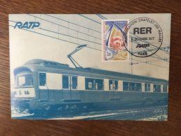 FRANCE RATP INAUGURATION CHATELET LES HALLES 1977 RER - Métro