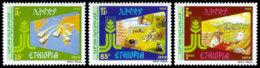 Ethiopia, 1988, IFAD, International Fund For Agricultural Development, United Nations, MNH, Michel 1304-1306 - Etiopía