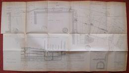 Plan Galerie électrique Du METROPOLITAIN Rues Chanoinesse Arcole Quai Aux Fleurs LA CITE 1909 PARIS 85 X 48 Cm ( RATP ) - Documenti Storici