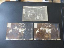 44 Rue Oberkampf PARIS 11eme ,3 Cartes Photos Trouvées Dans La Méme Pochette,commerce CAFE,vin - Arrondissement: 11