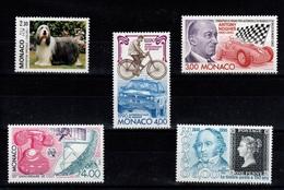 Monaco - 1990 : YV 1715 / 1716 / 1717 / 1718 / 1719  N** Cote 12,65 Euros - Monaco