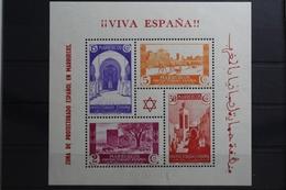 Spanisch-Marokko Block 1 Mit 147-150 ** Postfrisch #UM106 - Marocco (1956-...)