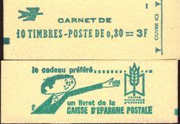 """CARNET 1536-C 1 Marianne De Cheffer  """"CAISSE D'EPARGNE POSTALE"""" Avec R.E. Conf. 1. Parfait état TRES TRES RARE. - Carnets"""