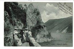 CPA-Carte Postale-Suisse- Lago Di Lugano -Sasso Di Gandria  -1907- VM17896 - TI Tessin