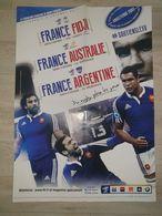 Poster Tournée D'automne 2014 équipe De France Rugby - Rugby