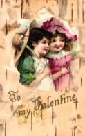Valentinstag, Kinder, Prägekarte, Um 1900/10 - Saint-Valentin