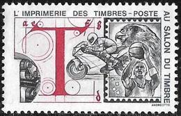France : Vignette De L'imprimerie Des Timbres-poste Au Salon Du Timbre. Basket Ball, Moto, Faucon. Graveur Andreotto. - Erinofilia