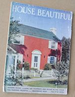 1941 HOUSE BEAUTIFUL September BUILDING Magazine COOKING Furnishing GARDENING History USA - Maison
