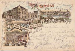 Gruss Aus MULHEIM A/d Ruhr , Germany, 1898 - Mühlheim