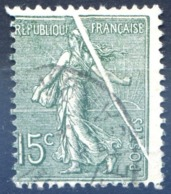 France N°130 - Oblitéré - PLI ACCORDEON - (F1453) - 1903-60 Semeuse Lignée
