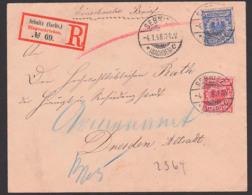 SEBNITZ Sachsen R-Brief 4.1.1898 Nach Dresden An Den Rath Der Haupt- Und Residenzstadt - Covers