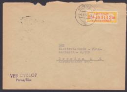 PIRNA, ZKD-Brief B17M VEB CYKLOP Vom 3.6.58 Nach Dresden - DDR