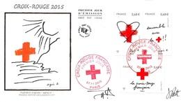 FRANCE. FDC. N°207034. 07/11/2015. Cachet Paris. Croix Rouge Française. Signé Patte Et Besset.agnès B - 2010-....
