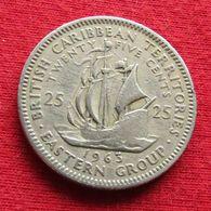 British Caribbean Territories 25 Cents 1963 KM# 6  Caribbean Caraibas Caraibes Orientales - Caribe Oriental (Estados Del)