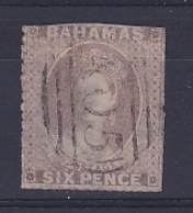 Bahamas: 1861/62   QV    SG6    6d   Grey-lilac   Used - 1859-1963 Colonia Británica