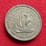 British Caribbean Territories 25 Cents 1964 KM# 6 *V1 Caraibas Caraibes Orientales Eastern - Ostkaribischer Staaten