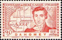 Dahomey Poste N** Yv:110/112 René Caillié - Dahomey (1899-1944)