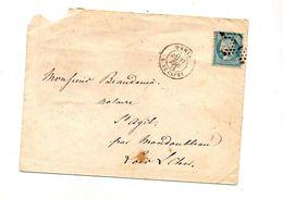 Lettre Cachet Etoile Paris Sur Ceres + Paris à La Rochelle - 1849-1876: Periodo Clásico