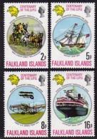 Falkland Islands, 1974, UPU Centenary, Universal Postal Union, United Nations, MNH, Michel 226-229 - Falklandeilanden
