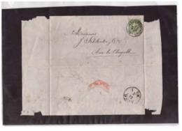 E62  -   VERVIERS 23.6.1877   /   LETTERA SPEDITA A  AIX-LA-CHAPELLE  AFFRANCATA CON IL NR. 27    CAT. MICHEL - 1869-1883 Léopold II
